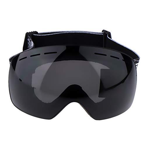 Perfk snowboard skate occhiali da sci con staccabile anti nebbia professionale unisex attrezzo - occhiali da vista neri + cornice nera