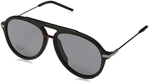 Fendi ff m0011/s ir kb7 58, occhiali da sole uomo, grigio gy grey