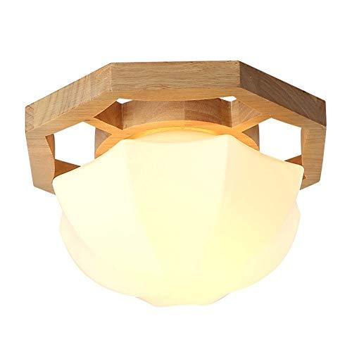 Yankuoo Creativa luz de Techo de Madera Maciza, lámpara de Pantalla de...