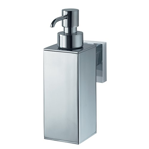Haceka Mezzo 1122439 Stainless Steel and Zinc Alloy Metal Soap Dispenser, Silver