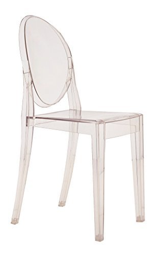 Kartell Victoria Ghost Stool designed by Philippe Starck, Crystal Clear by Kartell