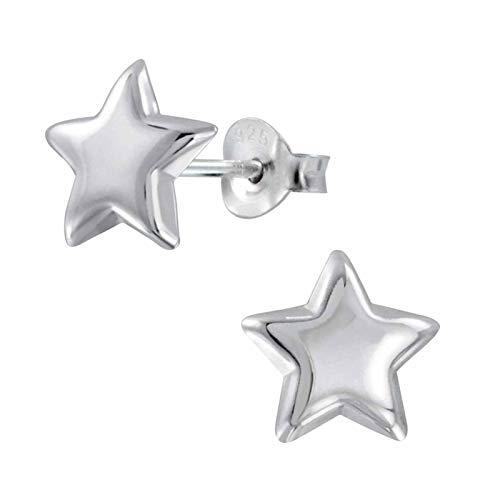 FIVE-D - Pendientes estrella plata ley 925 estuche