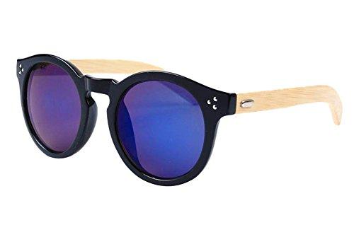 Insun Herren Sonnenbrille Gr. Einheitsgröße, Mehrfarbig - 4023MC6 Wood Frame