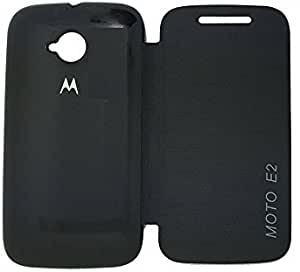 MACC Flip Cover Case For Moto E (2nd Gen) 3G - Black
