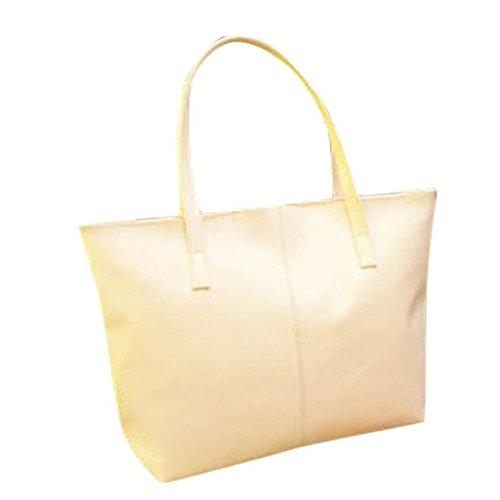 2017 Borse donna,Kangrunmy Donne Messenger borsa Adatti a sacchetto di Tote borsa di cuoio Bianca