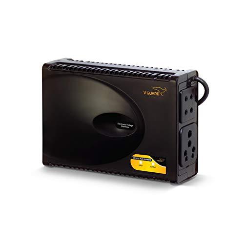 V-Guard Crystal Plus Supreme TV Voltage Stabilizer for 120 cm (47) TV+Set topbox+Home Theatre System (Working Range: 90-290V; 3 A)