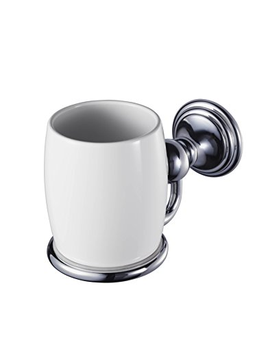 HACEKA allure Becherhalter, verchromt, weißes Porzellan, 1126171