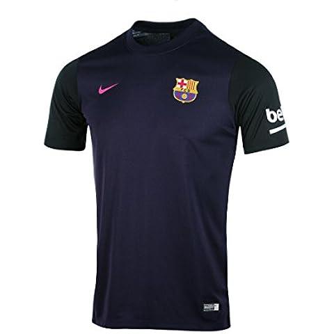 Nike FC Barcelona M Aw Supporters Tee - Camiseta de manga corta para hombre, color morado, talla M