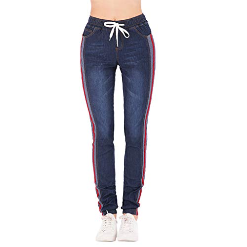 Pants Women Jeans Plus Size Lace-Up High Waist Spring Pants Long Jeans Women Casual Loose Elastic Straight Trousers Push up Jeans Gusspower Leggings