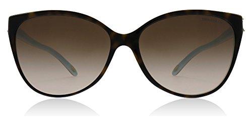 Tiffany & co. tf4089b victoria collection, occhiali da sole adulto, marrone (havana blue 81343b), taglia unica (taglia produttore: one size)