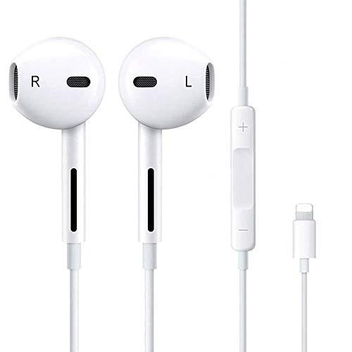 Luvfun In-Ear Cuffie Auricolari con Telecomando e Microfono,Isolamento del Rumore, Alta Definizione, Bassi potenti, Suono Puro,Auricolari Cuffie Stereo per iPhone 7/7 Plus / 8/8 Plus/X/XS/XS Max