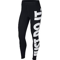 Nike W NSW LEGASEE HW JDI - Leggings, Mujer, Black/White, S
