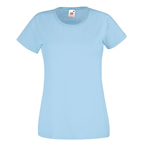 Fruit of the Loom - Lady-Fit T-Shirt 'Valueweight T' Sky Blue