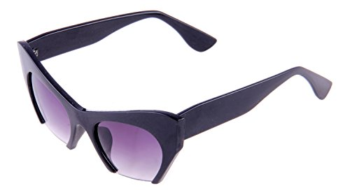 Di Tutti Violet Women's Cat Eye Sunglasses 100%UV Protected Portable Zipper Hard Case for Sunglasses