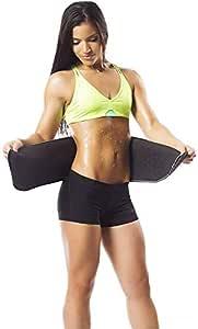Bluee Advance Sweat Waist Belt/Exercise Body Slim Look Belt Free Size (Black)