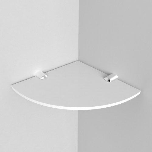 Scaffale angolare per il bagno, acrilico, 150mm, circa 6pollici/15,24cm, viene fornito con elementi di fissaggio in metallo cromato bianco