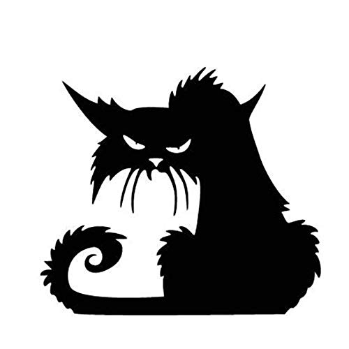 Wandaufkleber Halloween schwarze Katze Glas Aufkleber Persönlichkeit dekorative Wandaufkleber 43 * 34cm