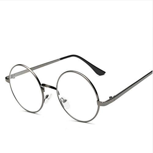 Ljtao Frauen Runde Brille Rahmen Brille Mit Klarer Linse Männer Optische Spez. Le Rahmen Transparent Gläser Für