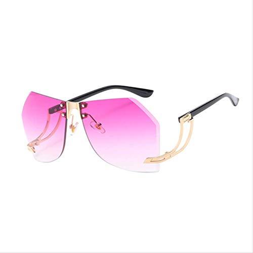 shengbuzailai Damen-randlose Sonnenbrille- Entwurfs-sexy Mode-Retro- Schneidebrillen- Steigungs-Sonnenbrille für weibliches A7