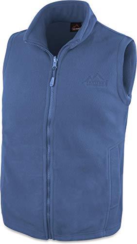280 g/m² Herren Fleeceweste für den Übergang mit Taschen und Stehkragen - leicht, elegant, funktional Farbe Navy Größe M