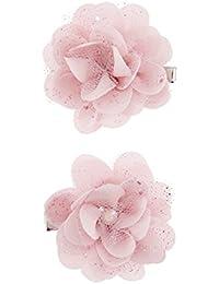 Accessorize 2barrettes ornées de fleurs roses pailletées - Fille
