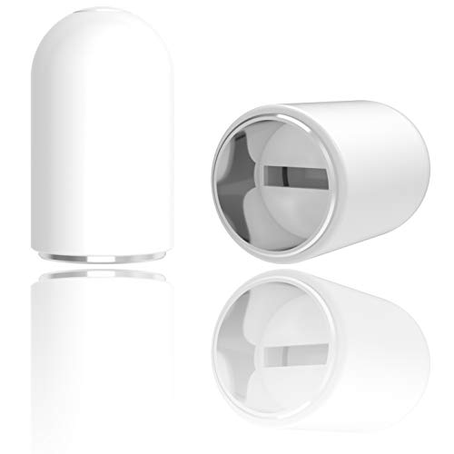 innoGadgets Apple Pencil Ersatzkappe & Halterung by Magnetische Lightning Schutzkappe mit Sicherung aus Silikon | Apple Ersatzteil und Zubehör | Weiß