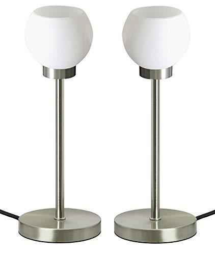TRANGO 2er Pack LED Schreibtischlampe Tischleuchte Nachttischlampe Fensterbankleuchte Lampe TG2018-06/2