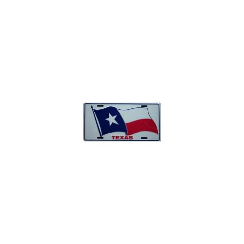 Texas License Plate Frames (Texas State Flagge geprägt Metall License Plate Auto Tag)