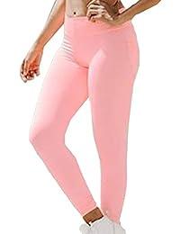 Donna Yoga Pantaloni con Tasca - Sudorazione Leggings Slim Push Up Sportivi Pantaloni
