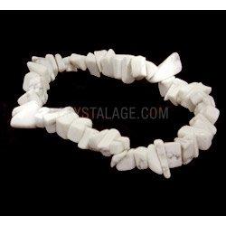 Howlite Gemstone Chip Bracelet by CrystalAge