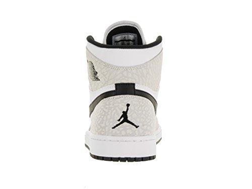 Nike Air Jordan 1 Retro High, Scarpe da Basket Uomo, Blu, Talla Blanco (White / Black-Pure Platinum)