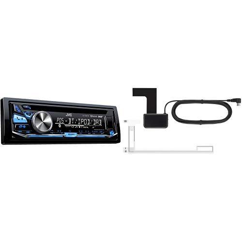 JVC KD-DB97BT USB/CD-Receiver (DAB+, Front-AUX, Bluetooth) schwarz & Kenwood DAB-Antenne CX-DAB1 Scheibenklebeantenne für alle DAB/DAB+ Geräte mit SMB-Anschluss, Phantomeinspeisung 9-16 Volt