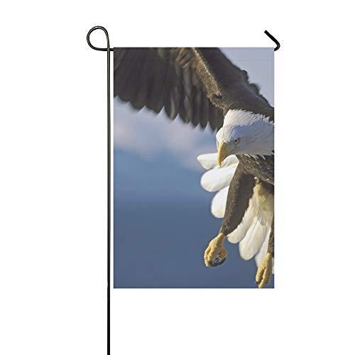 JOCHUAN Home Dekorative Outdoor Double Sided Close Weißkopfseeadler Flug über Wasser Garten Flagge, Haus Hof Flagge, Garten Hof Dekorationen, saisonale Willkommen Outdoor Flagge -