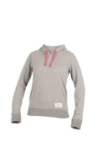 Russell Athletic Damen Sweatshirt Hooded Pull Over, Grau, L, A3-146-2-150 - Athletic Track-t-shirt