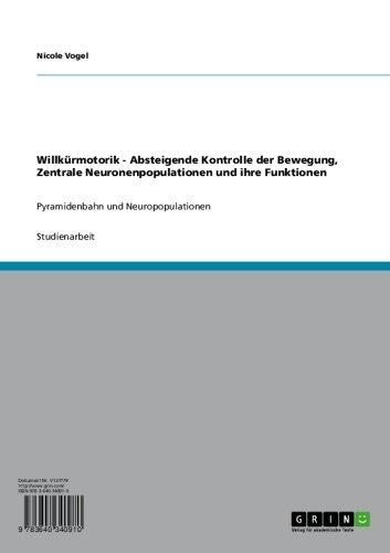 Willkürmotorik - Absteigende Kontrolle der Bewegung, Zentrale Neuronenpopulationen und ihre Funktionen: Pyramidenbahn und Neuropopulationen