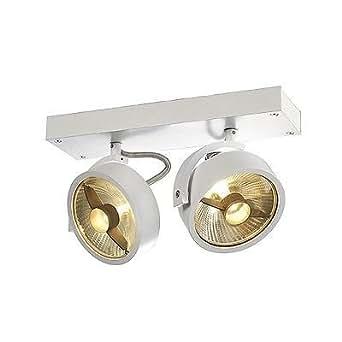 KALU 2 QPaR Plafonnier, Blanc mat, Lampe ES111, max. 2 x 75 W