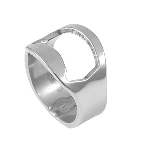 Unique Versatile Stainless Steel Finger Ring Beer Bottle Opener Creative Ring Shape Opener Bar Supplies Kit Tool