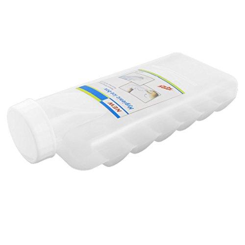 sourcingmap Weichplastik 18 Fächer Ice Herstellung Box Gussform Mit Abdeckung Weiß