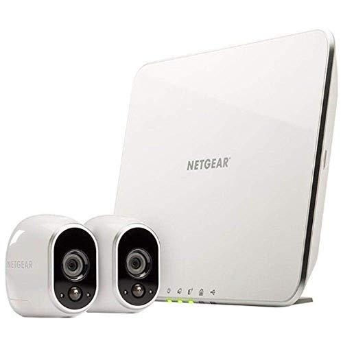 Arlo HD Smart Home 2 HD-Überwachungskameras und Sicherheitssystem (100{1b48ffb6078e0d8d0ebb67a43f25c28fce787fb250879cc8c0bdf7c22a160ff9} kabellos, Indoor/Outdoor, WLAN, Bewegungsmelder, Nachtsicht) weiß, VMS3230