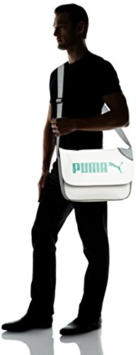 PUMA Borsa Messenger 071374 04 Bianco 14.0 liters white-limestone gray-green