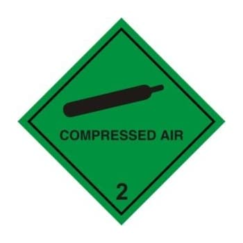 Smarts Art Warning Sign Compressed Air Magnetic Sign 100mm X 100mm