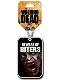 THE WALKING DEAD BEWARE OF BITERS dogtag / collier