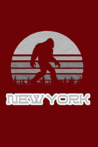 New York: Bigfoot themed journal with names of States in America. (New Bigfoot In York)