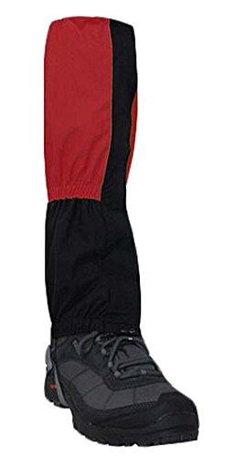 Blancho EIN Paar im Freien wandernde Gaiters Stiefel Gaiters Leg Gaiters, Rot, 15,7 \'\'