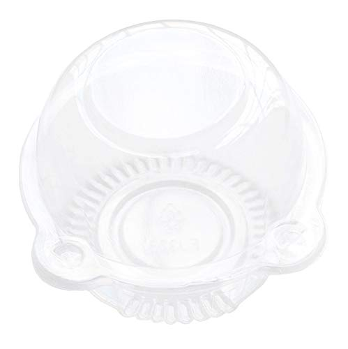 Cup a Cake Clear Pod Muffin Container Individual CupCake Plastic Dome Box For Muffins, Salad, Cheese, Cream, Fairy Cakes(100 ) by Rootisbb