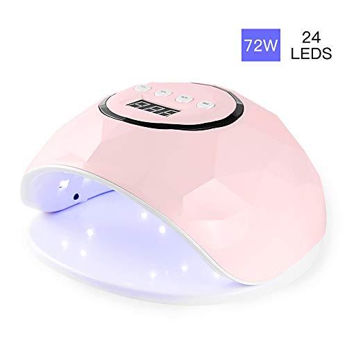 Lampara LED Uñas 72W Profesional Secador de Uñas LED UV Lampara Uñas Gel Semipermanentes Maquina...