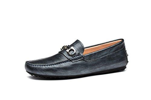 OPP Hommes Mocassins Loafers Ornement de Métal Chaussures de Conduite Gris