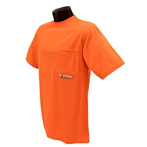 Radians ST11-NPOS-M Polyester Mesh Non-Rated Short Sleeve Safety T-Shirt with Moisture Wicking Mesh by Radians