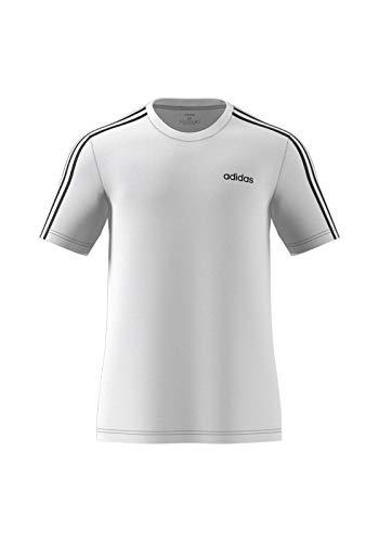 Abdeckung Herren T-shirt (adidas Herren E 3S Tee T-Shirt, White/Black, M)