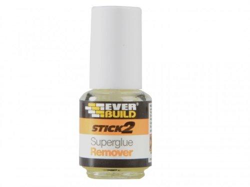 Everbuild EVBS2SGREM Stick 2 Produit dissolvant pour SuperGlue 4g